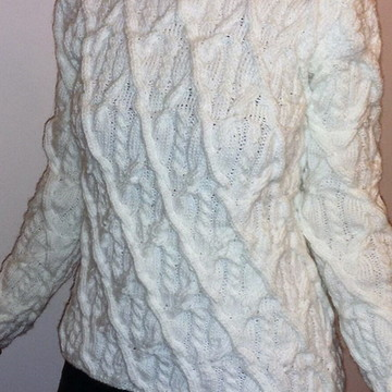 Blusa de lã estilo norueguês