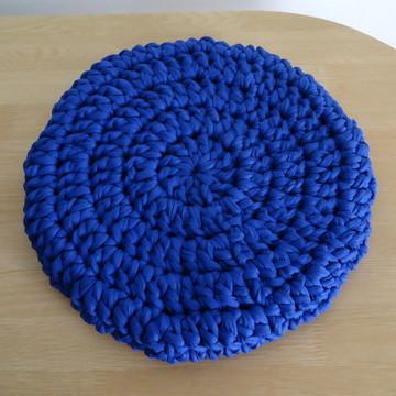 Capa de Crochê para Banco / Banqueta Azul