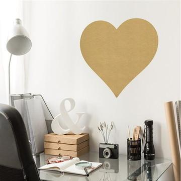 Adesivo Coração Grande Dourado
