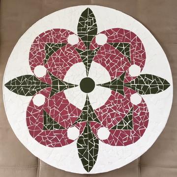 Tampo de mesa 60 cm em mosaico de azulejo