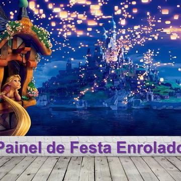 Painel de Festa Enrolados -Rapunzel