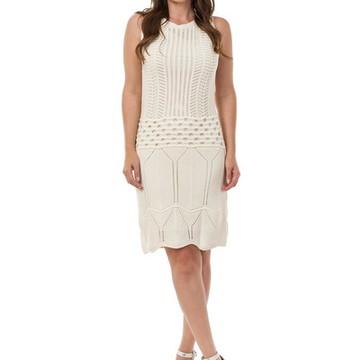 399a279e01 Vestido Curto Feminino de Tricot Tricô Babado Off 04950