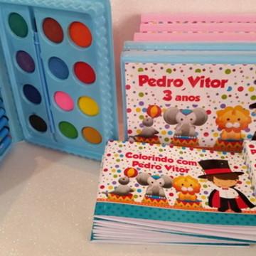 Estojo de colorir +Livrinho+caixinha lápis de cor Circo