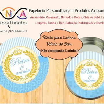 Rótulo Latinha Coroa Menino (Príncipe)