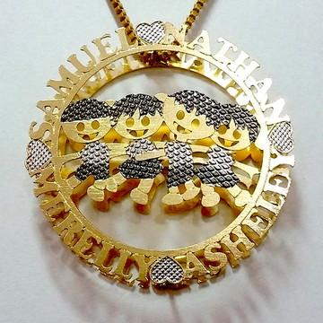Mandala Quatro Filhos(as) - Banhada a Ouro