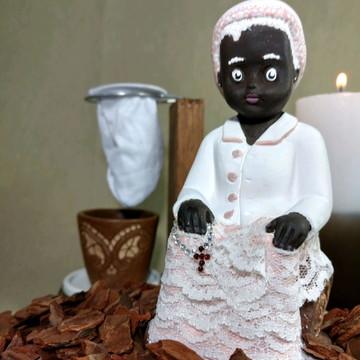 Imagem preta velha em gesso personalizada estilo Baby