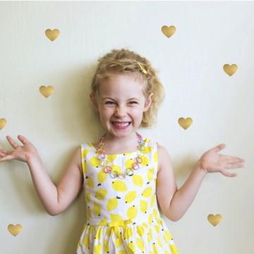 Adesivo Coração Dourado