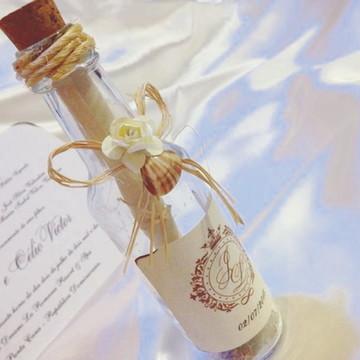 Convite de Casamento Garrafinha Praia