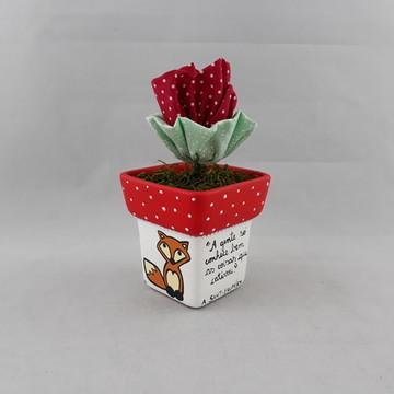 Vaso Pequeno Príncipe com Rosa Tecido C.1329