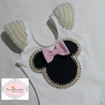 Collant minnie bordado