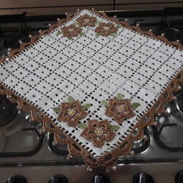 Kit de cozinha em crochê