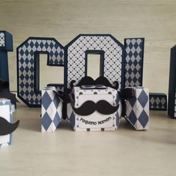 Porta Caixinha Bigodinho Moustache