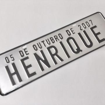 Placa de Carro Decorativa - Prensada