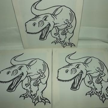 Tela de Pintura Personalizada Tiranossauro Rex