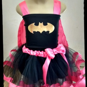 Fantasia Batgirl rosa 10 e 12 anos