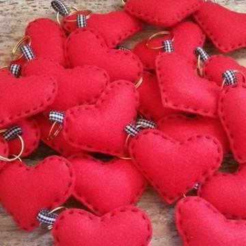 Chaveiro coração - Coração feltro