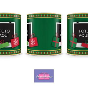 Caneca Natal Personalizada com 2 fotos Personal Presentes