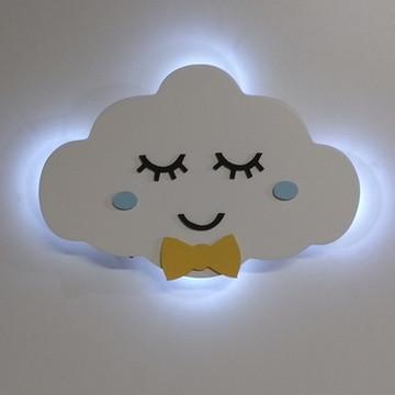 Nuvem Com Luz De Led Luminária Quarto Menino B