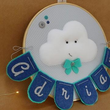 Porta maternidade em bastidor nuvem 1