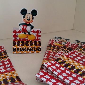 Porta chocolate duplo Mickey aplique M