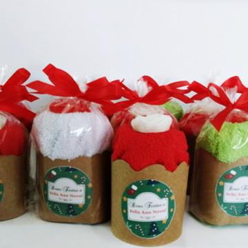 Panetone toalha brinde de natal
