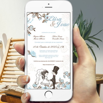 Convite Digital Casamento Noivinhos - PROMOÇÂO