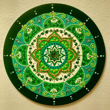 Mandala mdf 5° Raio Verde 30cm
