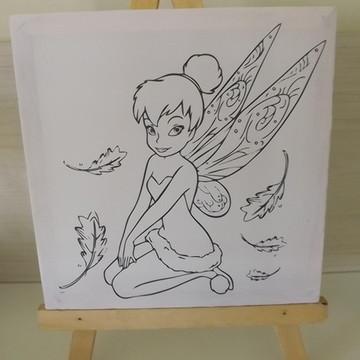 Tela de Pintura Personalizada Tinker Bell