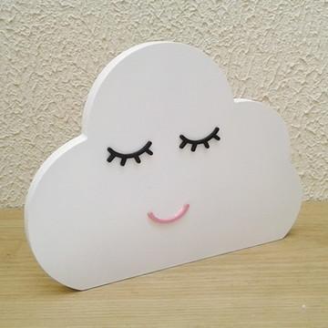 Nuvem com cílios e boca