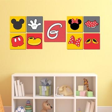 Kit de Quadros Mickey e Minnie