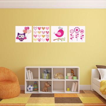 04 Quadros decorativos quarto de menina