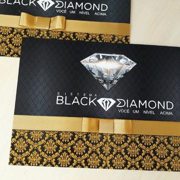 Convite preto dourado corporativo empres