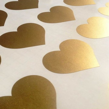 Adesivo coração pequeno Ouro Metálico