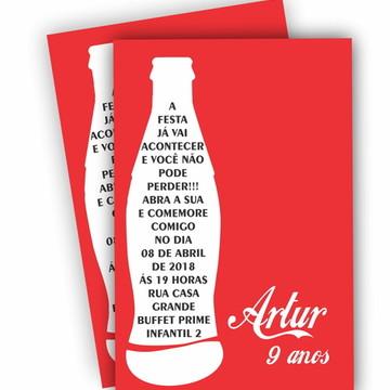 Convite de Aniversario - Coca Cola
