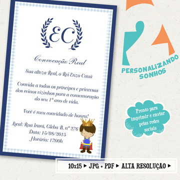 Convite Digital Reino Menino