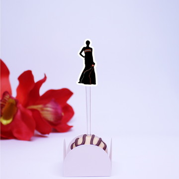 Topper para doces - silhueta feminina