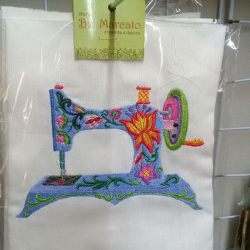 bordado de máquina de costura (aplicação)