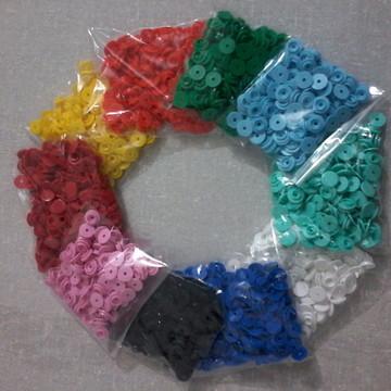 Botão de Pressão Plastico Ritas - 500 Botões N. 10 Sortidos.