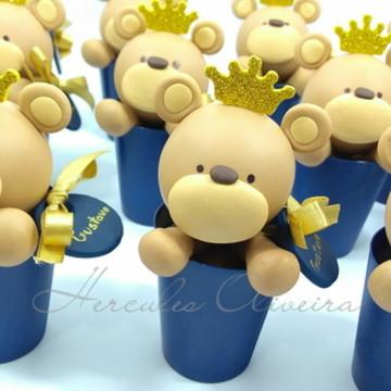 Lembrancinha Urso Príncipe biscuit