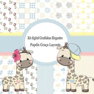 Kit Digital Girafinhas Elegantes