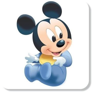 Adesivo Mickey Baby Disney Alta Resolução + Nome Filho