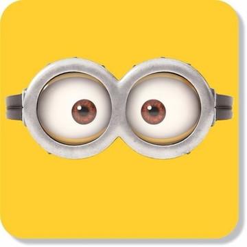 Adesivo Parede Decorativo Óculos Minions Olhos Tam. Grande