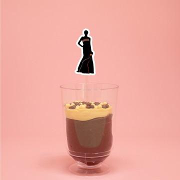 Colher para doce - Silhueta feminina