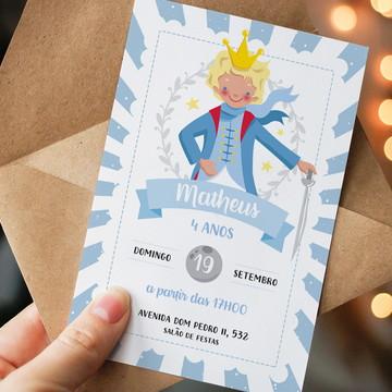 Convite Digital Aniversario Pequeno Principe