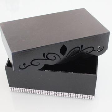 Caixa - MDF 3 mm pintado com strass