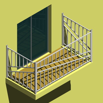 Desenho modelado e construído em 3d