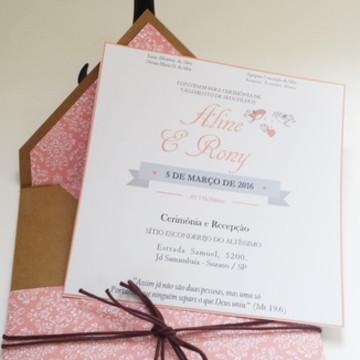 Convite Casamento Rústico Chique