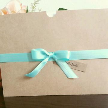 Convite de Casamento Rústico Azul Tiffany
