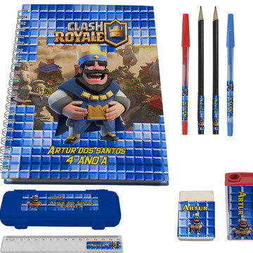 Kit Escolar + 1 Caderno - Clash Royale