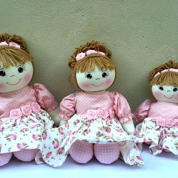 trio de bonecas de pano nichos